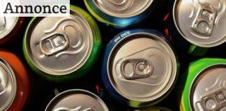 sodavandsdåser set oppefra